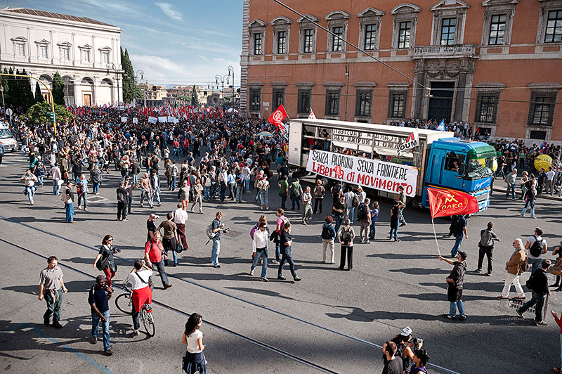 demonstration manifestazione roma no tav