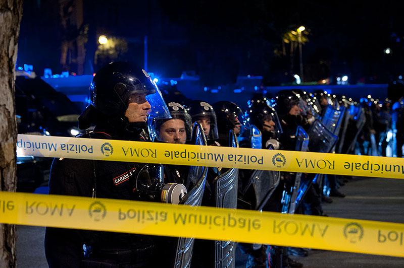 Manifestazione No Tav Roma polizia