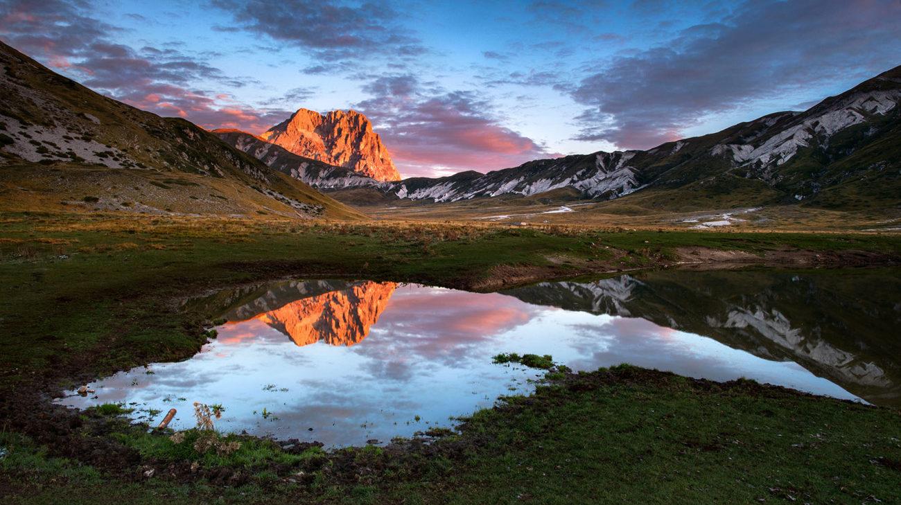 Campo Imperatore Landscape Sunrise lago Pietranzoni scattata con reflex nikon