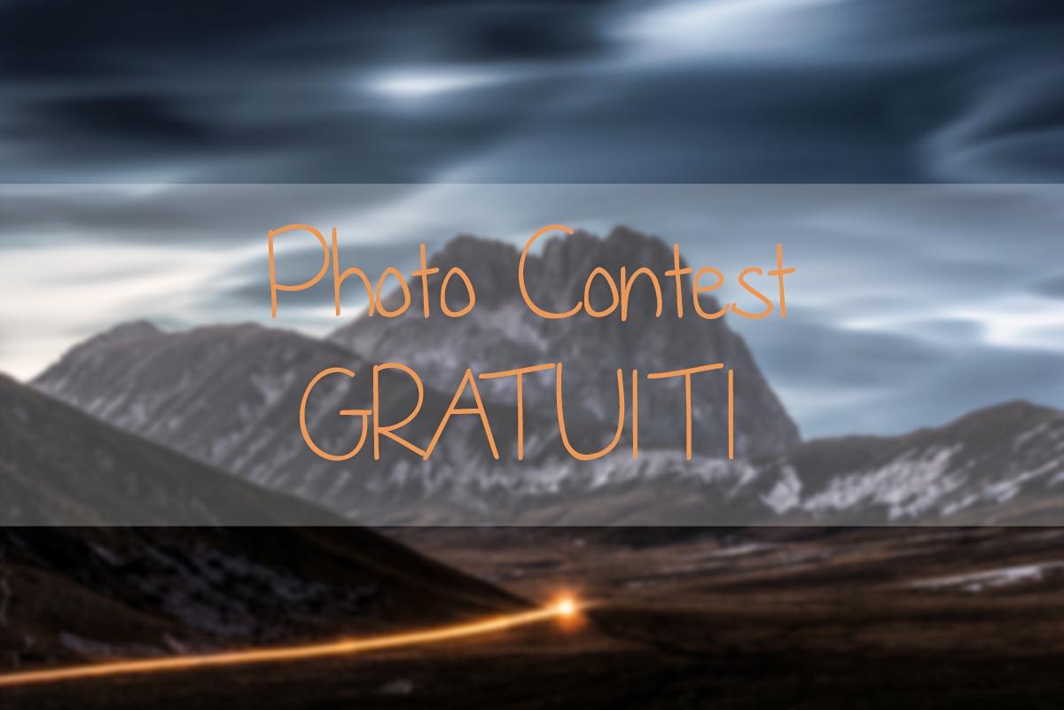 Contest fotografici GRATUITI