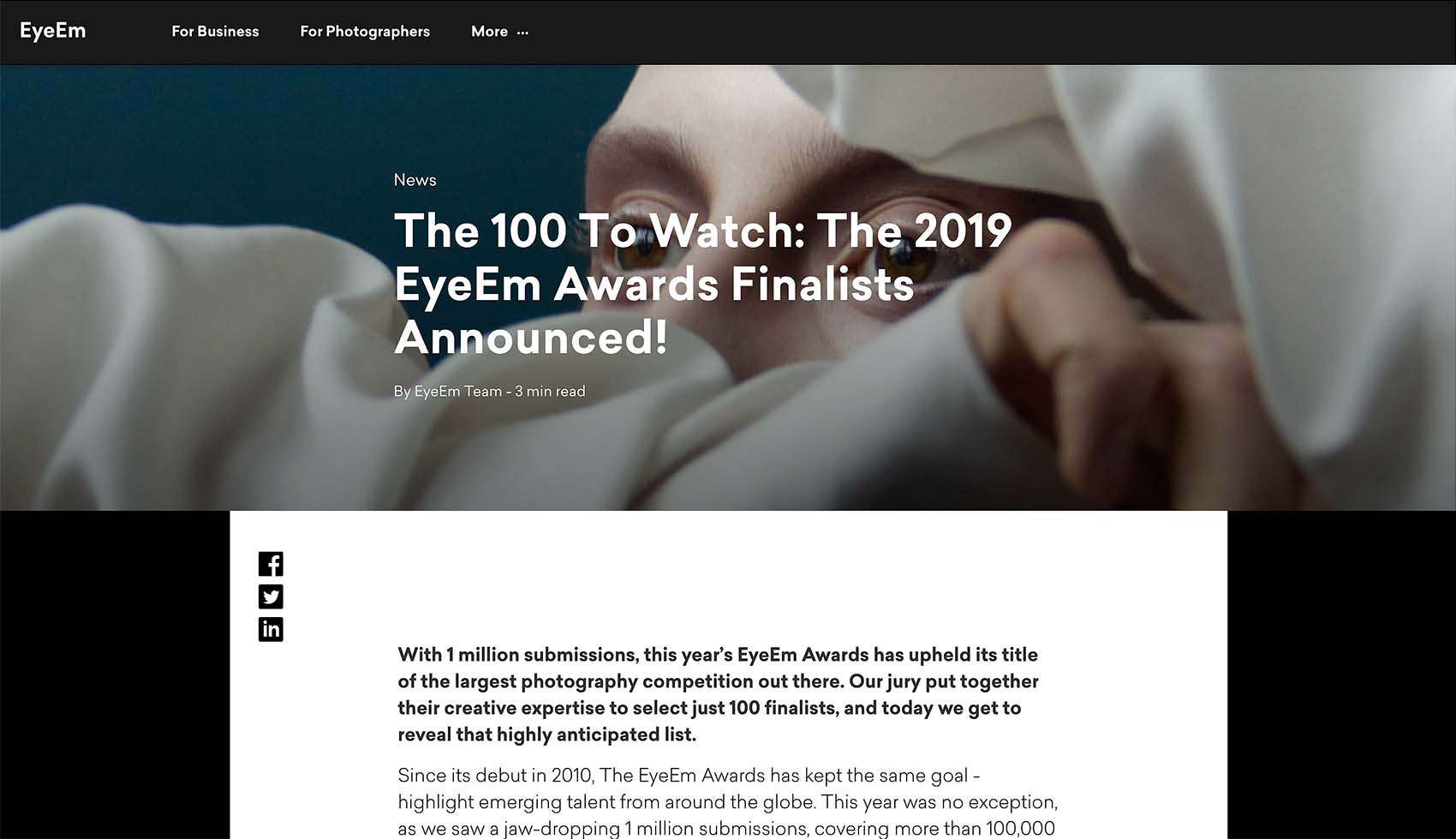 The 100 to watch: The 2019 EyeEm Awards Finalists Announced!